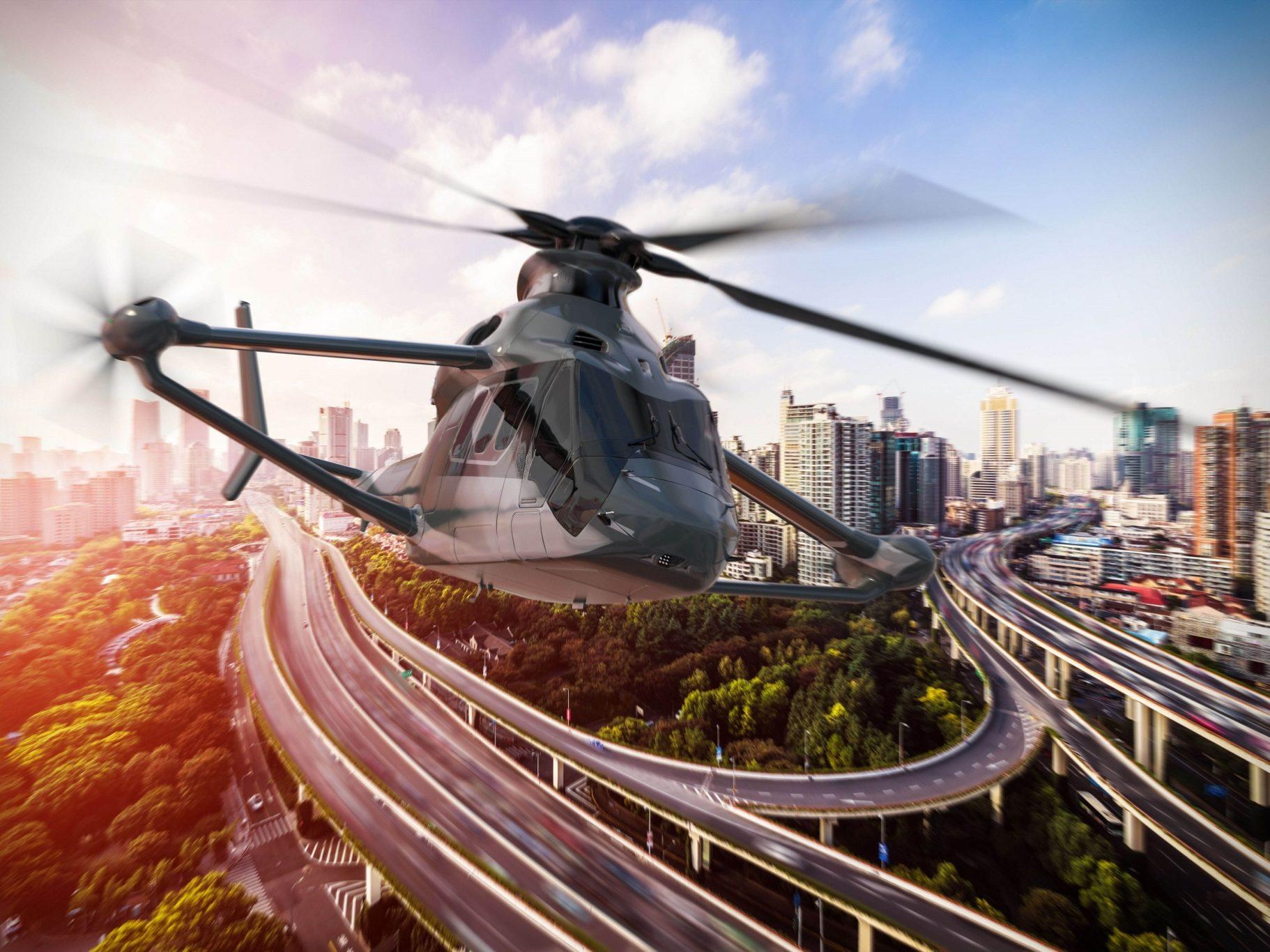 Le RACER d'Airbus, le futur multirole pour le transport des greffons, des blesses et des patients que la garde médicale aérienne française souhaite opérer