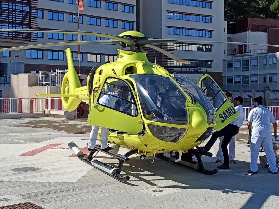 la garde médicale aérienne française mettra un hélicoptère au service du transport de transplants et greffons