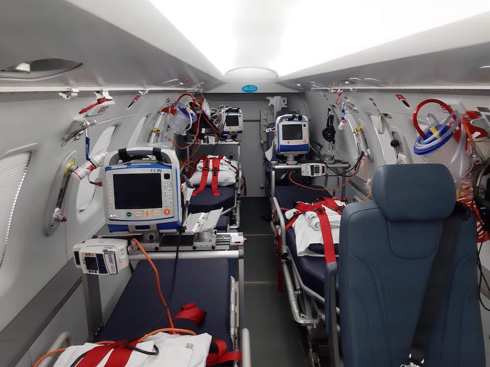 les avions de la garde médicale aérienne française sont dédiés au transport aérien médical urgent